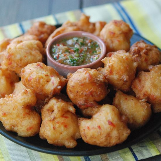 Trinidad Salt Cod Fritters with Pepper Sauce Recipe - Andrew Zimmern | Food&Wine