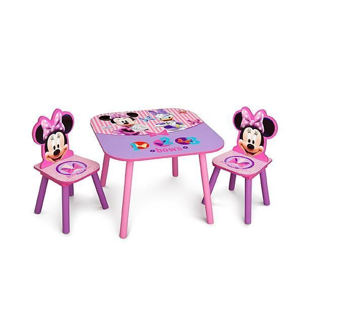 disney toddler table and chair set. minnie mouse table \u0026 chair set dining kids furniture childrens chairs - disney #disney $60.00 toddler and e