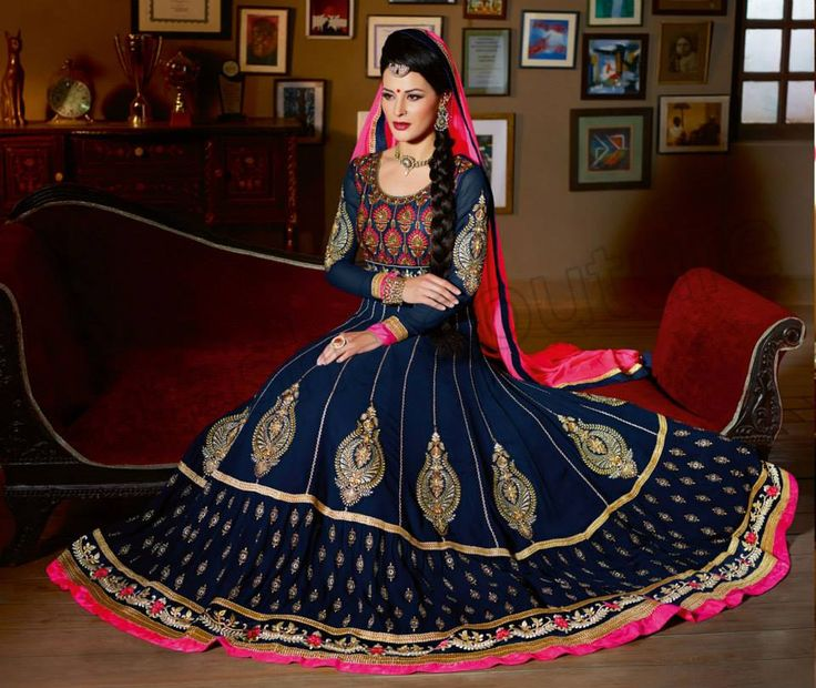 Natasha Couture Anarkali Lehenga Choli Collection 2014-15 For Women (8)