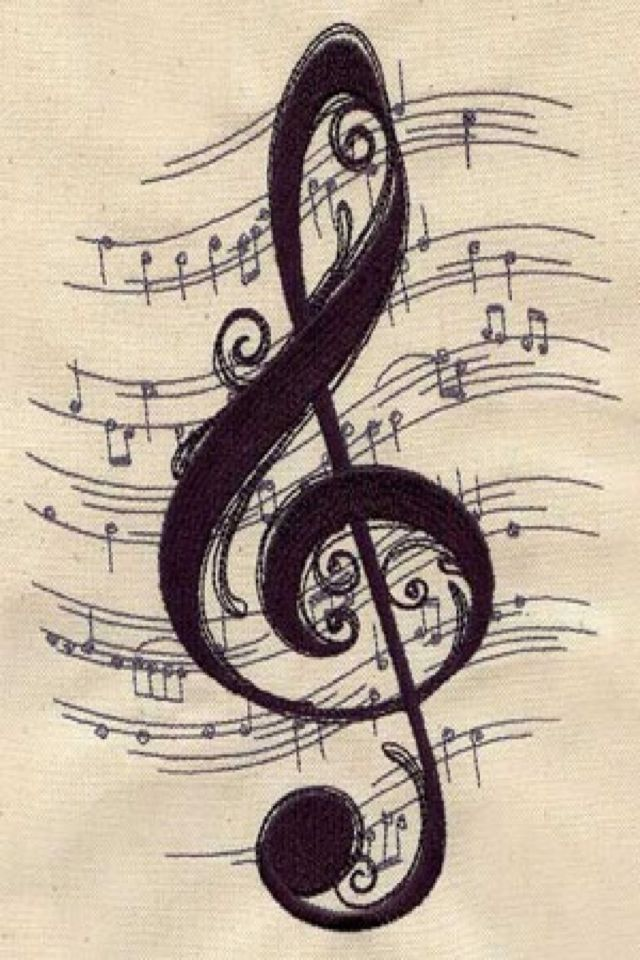 Pretty music tattoo, my thought is our wedding song in the background                                                                                                                                                                                 More