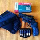 """Prodám revolver Arminius HW 38.: Ráže 38.Spec. délka hlavně 2""""-6-ti raný.Výrobce Německo.Vhodný na skryté nošení.Téměř nestřílený,občas nošen,proto také na hrankách někde mírně šouplý.Lze nenákladně odstranit.Bez vůlí a odřenin,tvrzená pryžová pažba bez známek osahání,jak nové.Přidám-krabičku nábojů,zásobník na opasek,nové nylonové pouzdro pro leváky i praváky.ZP a NP podmínkou.Jsem ze…"""
