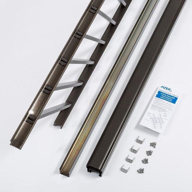 Best Timbertech Assembled 8 Ft X 4 Ft Imression Rail Express Bronze Aluminum Deck Rail Kit With 640 x 480