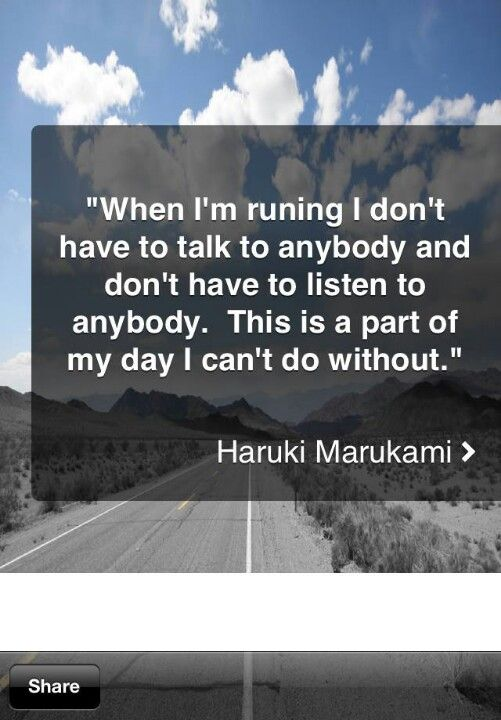 My day... | Haruki Murakami #running #quotes #murakami