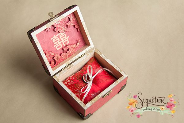Chinese Themed Wedding Ring Box