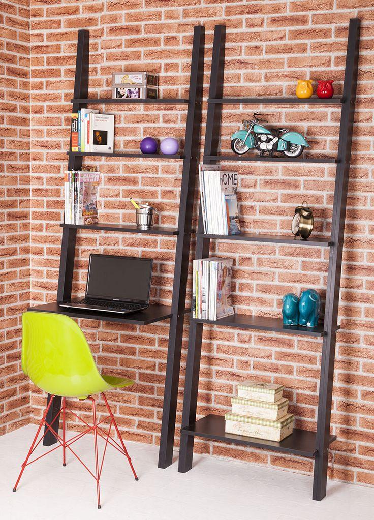 Colors+Home++Merdiven+Kitaplık+&+Masa+Seti+-+Siyah+:+369,90+TL+|+evmanya.com
