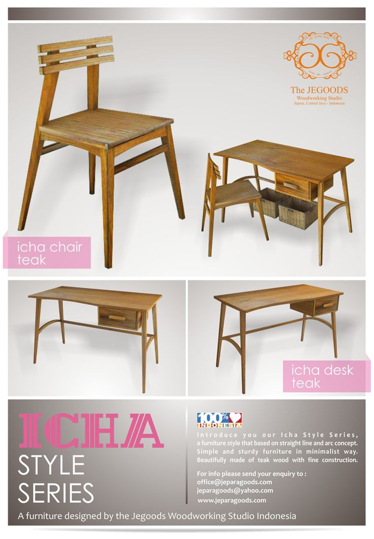 Icha Style Series - Minimalist Straight Line and Arc Furniture Concept by JeGoods Woodworking Studio Indonesia. www.jeparagoods.com