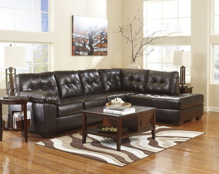 ashley furniture alliston durablend chocolate collection sectional chaise sofa san diego ca long beach
