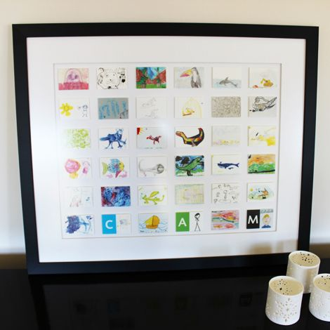 A collection of all 3 grand children's artwork for the year. A great present idea for a very proud grand parent.