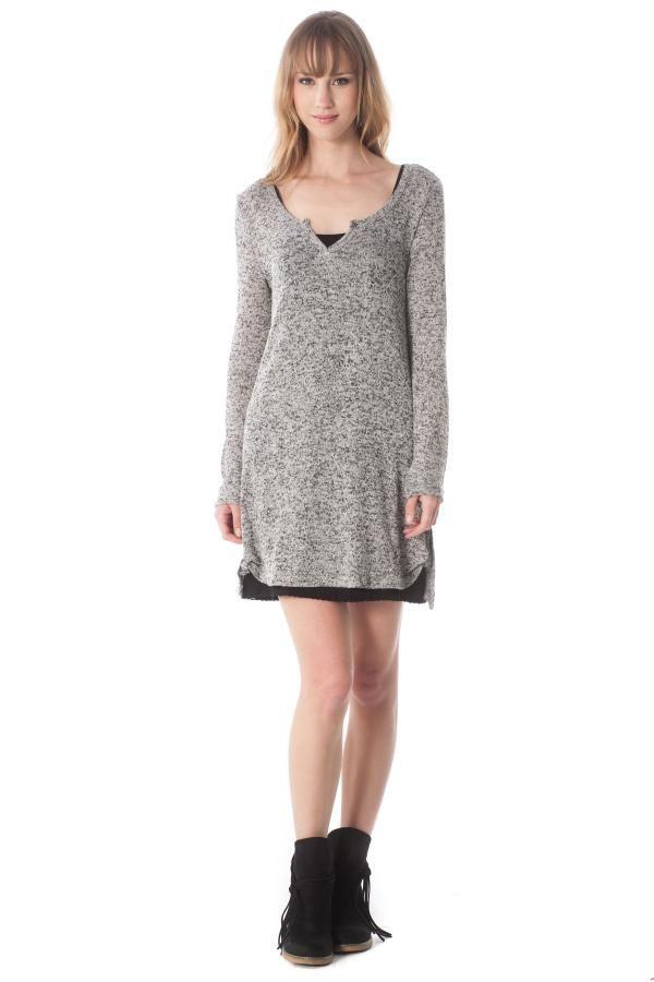 Φόρεμα μίνι πλεκτό σέτ με εσωτερικό
