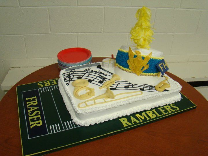 Fraser High School Seniors Marching Band Cake  Decorating