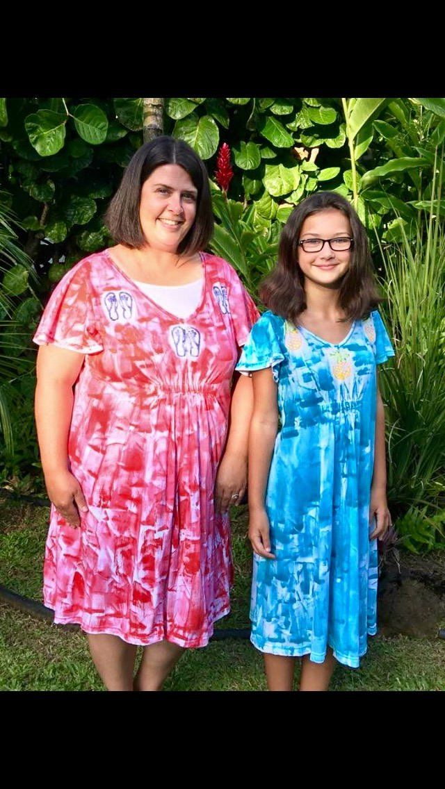 cb4dfef933 Great dress style that fits junior/petites to plus size women. Light floaty  cool cotton. Hand painted dress woman fashion plus size resort wear hawaii  beach ...
