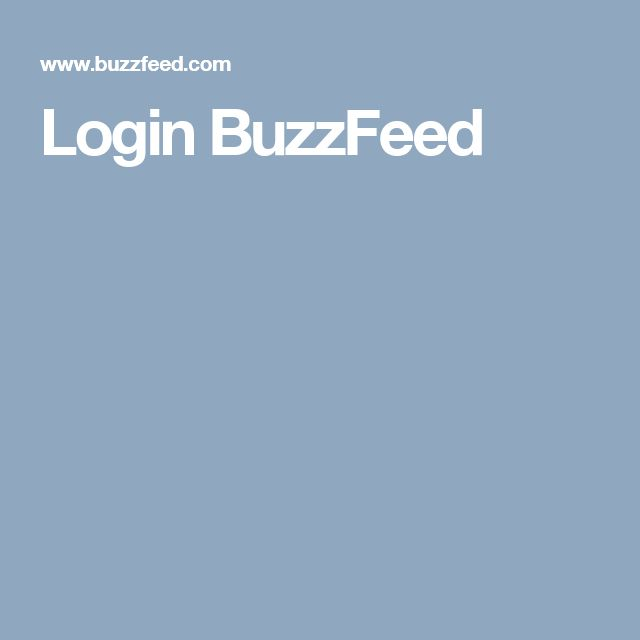Login BuzzFeed