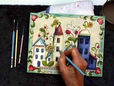 Scandinavia crafts a collection of ideas to try about for Folk art craft paint