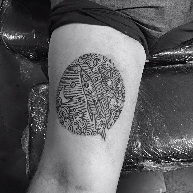 Em busca de um trabalho autoral, o inglês Kolahari cria tatuagens incríveis com efeito em hachura