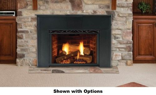 Majestic Topaz 30ILDVNVSB Direct Vent Gas Insert with Tavern Brown Firebrick Natural Flame Burner System Standard | Jet.com