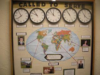 Missions bulletin board for church #kidmin