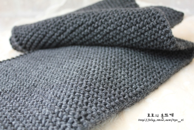 [로로의 손뜨개] 넥워머뜨는법 동영상 / 넥워머 뜨개질 도안 / 간단한 가터뜨기 넥워머만들기 / 목도리워머뜨기 :: 네이버 블로그