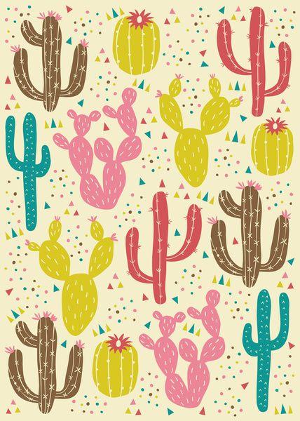 Prickly Cactus Art Print by Anna Deegan