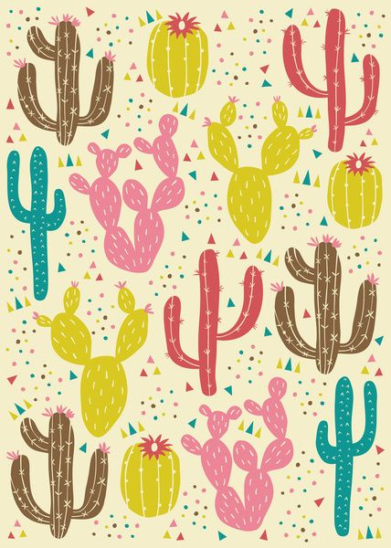 Prickly Cactus Art Print by Anna Deegan