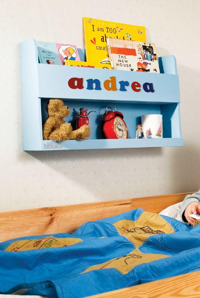Scaffale per Letto a Castello Personalizzato Tidy Books #regali #natale #personalizzati #personalizzazioni #andrea #bambini