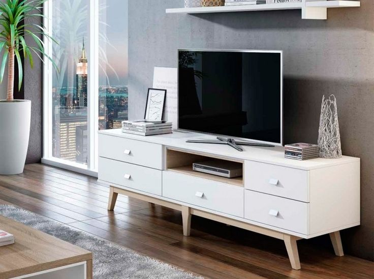 tv blanco racks tv ideas salon tv vintage tv stand house interior