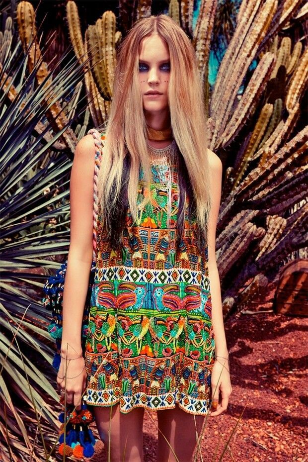Gypsy boho glamour girl Bohemian style fashion blogs