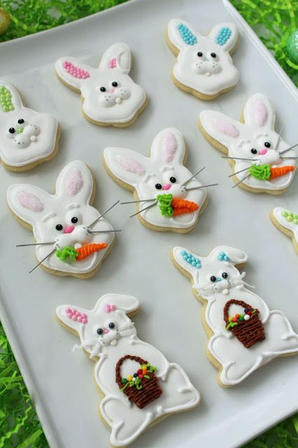 Easter Bunny Sugar Cookies (decoration instructions)