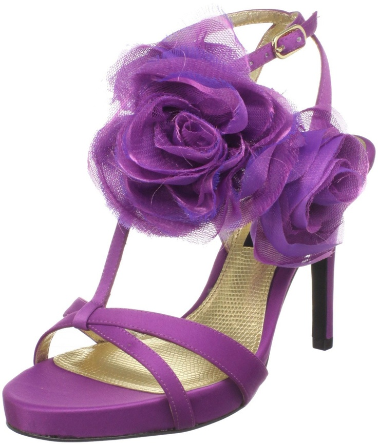 Purple Shoes!!! (Nina Women's Galiza Platform Sandal in Orchid) #wedding