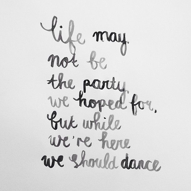 while we're here, we should dance #happy