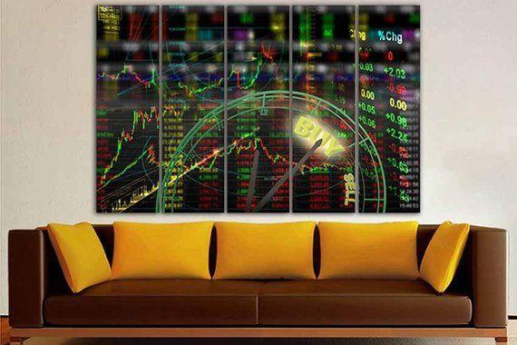 Trading canvas Trading print Stock market Trading wall décor | Etsy | Art  market, Wall decor, Trading