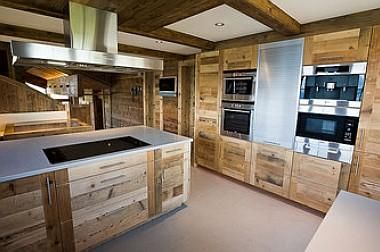 Swiss chalet kitchen armoire and chalets on pinterest for Chalet kitchen designs