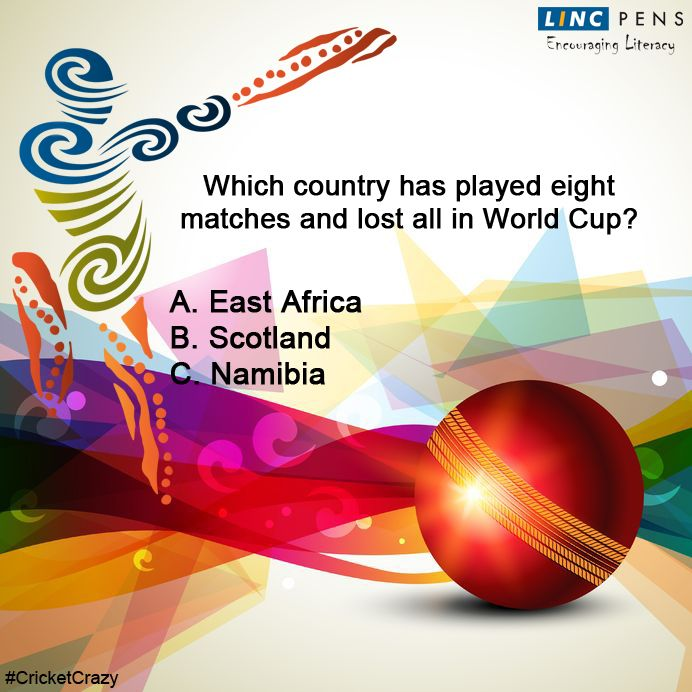 Question #11 ‪#‎CricketCrazy‬ ‪#‎WorldCup15‬