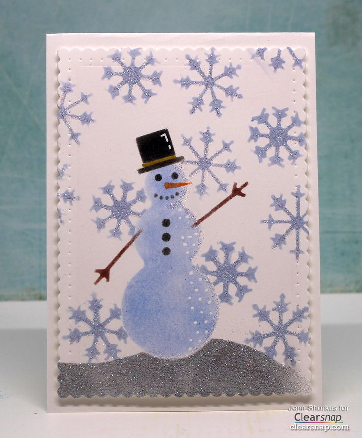 Simple Winter Cards with Art Screens Jenn