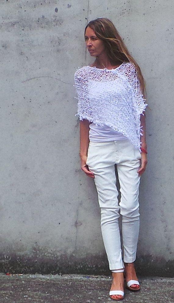 white Poncho / white Ribbon Wedding Poncho.--so pretty for Summer--inspiration