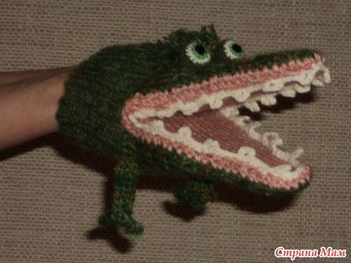 """Шарф-крокодил. Как сделать """"живые"""" глаза. - Вязание - Страна Мам"""