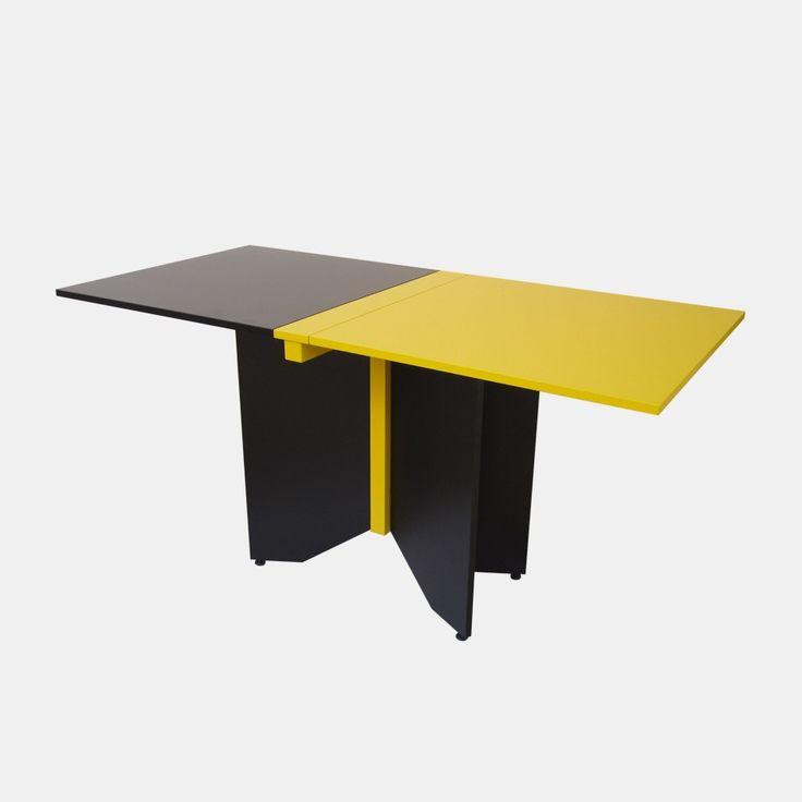 Tavolo pieghevole coccinella giallo e nero
