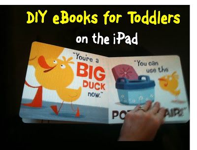 DIY eBooks for Toddlers on the iPad | from BitznGiggles.com| How come I had never thought of this before? What a great idea for preparing for a long car ride or stay at Grandma and Grandpa's! Toddlers go crazy for this and best of all, it's FREE! #DIY, #eBook, #iPad, #kids, #toddlers