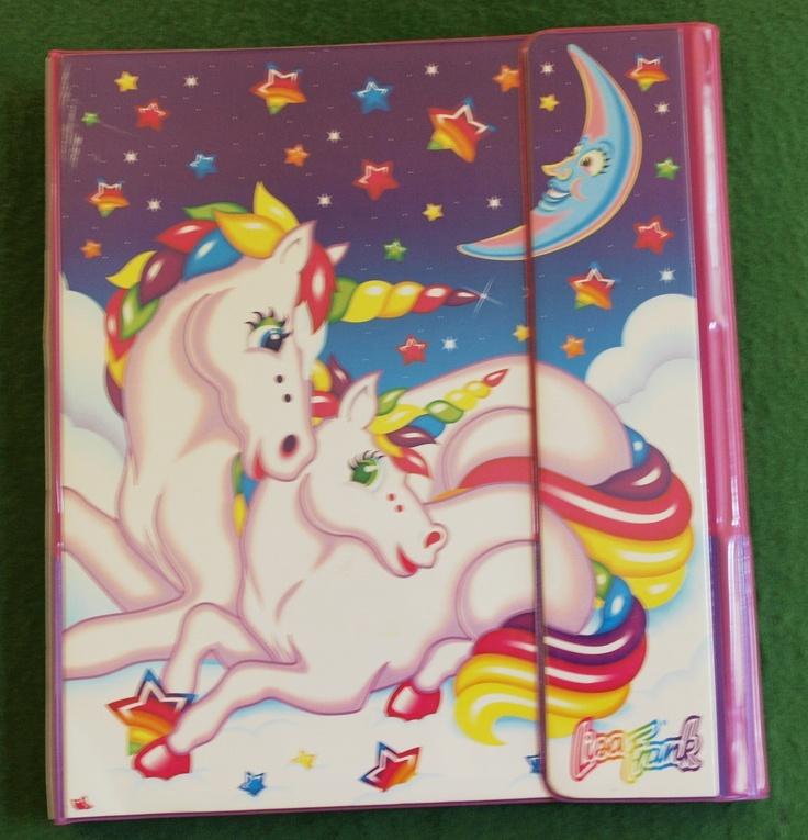 VTG Lisa Frank Classic Unicorn Trapper Keeper Binder Plus 3 Folders Graphic | eBay