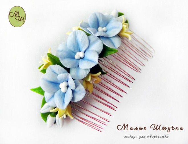 Beautiful Polymer Clay Comb Tutorial - In Russian http://kopilka.rv.ua/?p=5457