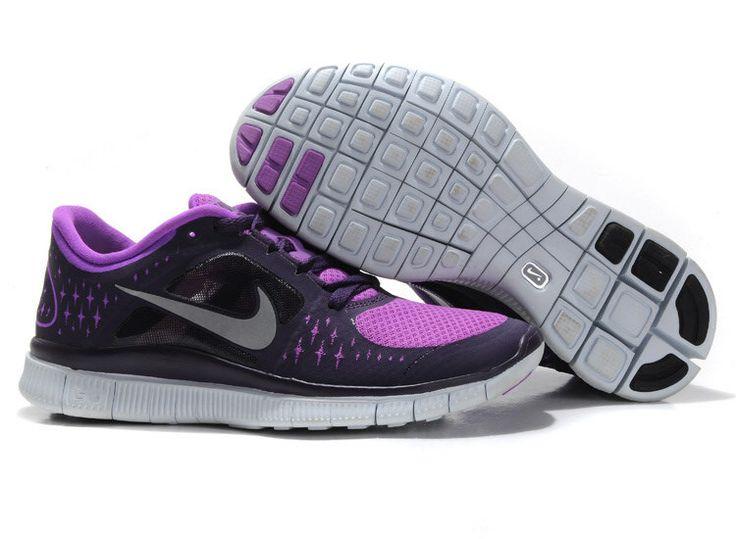 Women's Nike Free Run 3 Black Purple Shoe NZ
