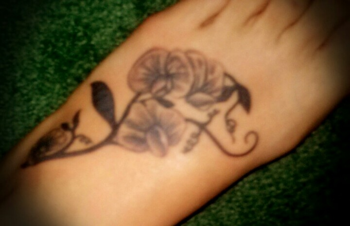 My own sweet pea foot tattoo future in ink pinterest for Sweet pea tattoo