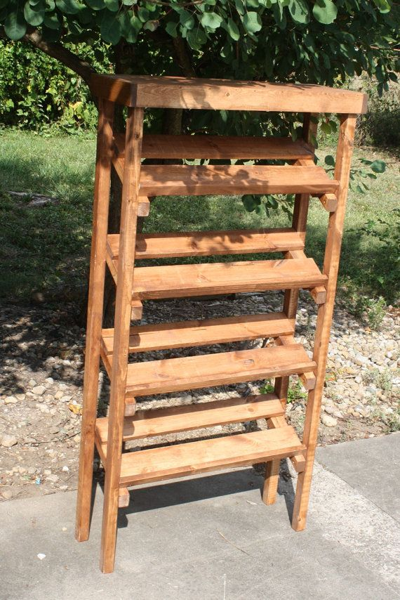American Walnut Stained SHOE RACK HandMade by UniquePrimtiques, $199.95