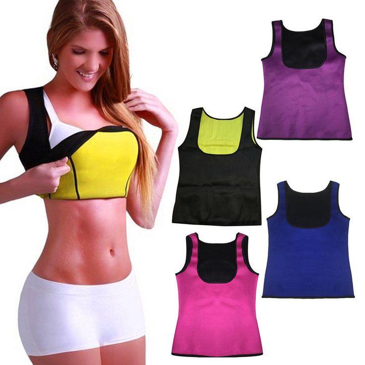 Mulheres Neoprene Shaper Do Corpo Do Emagrecimento Shaperwear Cintura Cinto de Fitness Fino Colete T-shirt