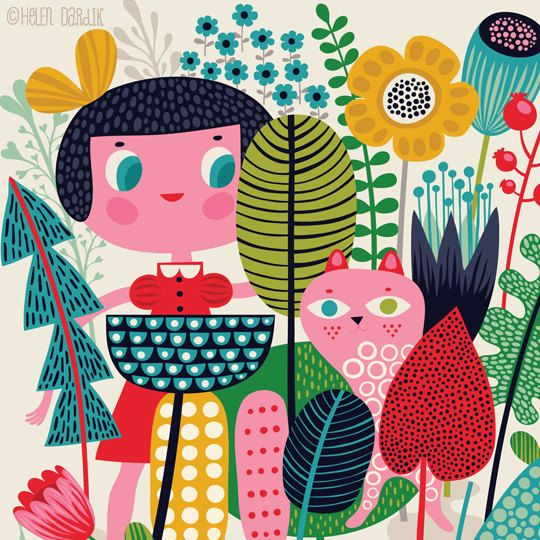 Really Small Gang  limited edition giclee print of by helen dardik