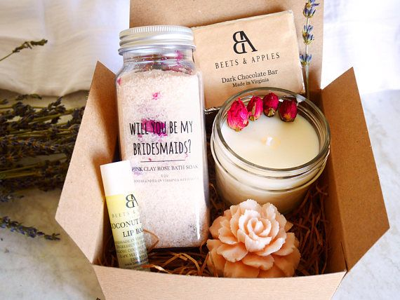 <Bridesmaids French Rose Spa Gift Set > by Beets & Apples.  Bridesmaids Gifts Set Bridesmaids Proposal gifts set Bridesmaid Spa Gift personalized Bridesmaid Gifts Bridesmaids Gift Basket Spa gifts set