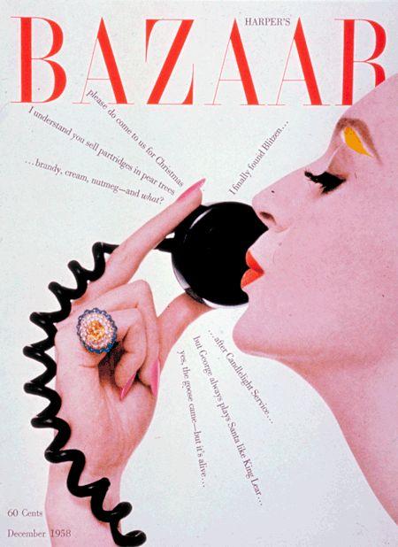 cMag237 - Harper´s Bazaar Magazine cover by Henry Wolf / December 1958