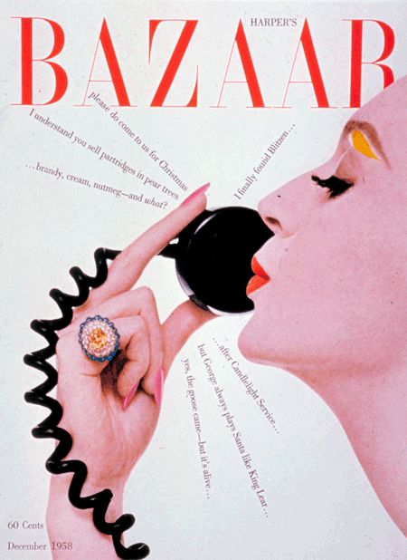 cMag237 - Harper´s Bazaar Magazine cover by Henry Wolf / December 1958
