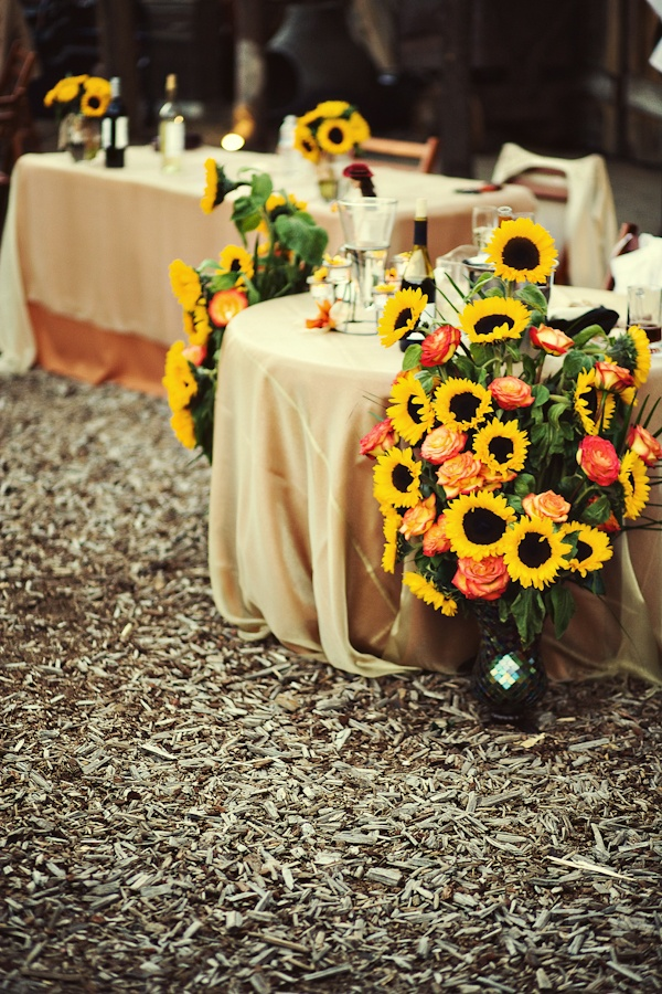 172 Best Sunflower Wedding Images On Pinterest Flower Arrangements