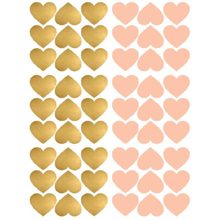 POM muurstickers Hartjes goud roze. Het Franse merk POM heeft geweldig leuke muurstickers in de collectie. En zo fijn: er zijn vele designs en kleuren! De muurstickers zijn verpakt in een mooi kartonnen doosje.
