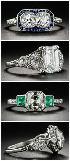 There's nothing like an antique engagement ring - the beauty, the history, the individuality! I don't know which one I love the most.